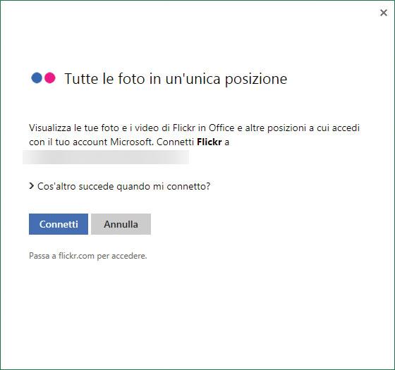 Figura 2: accedere a Flickr