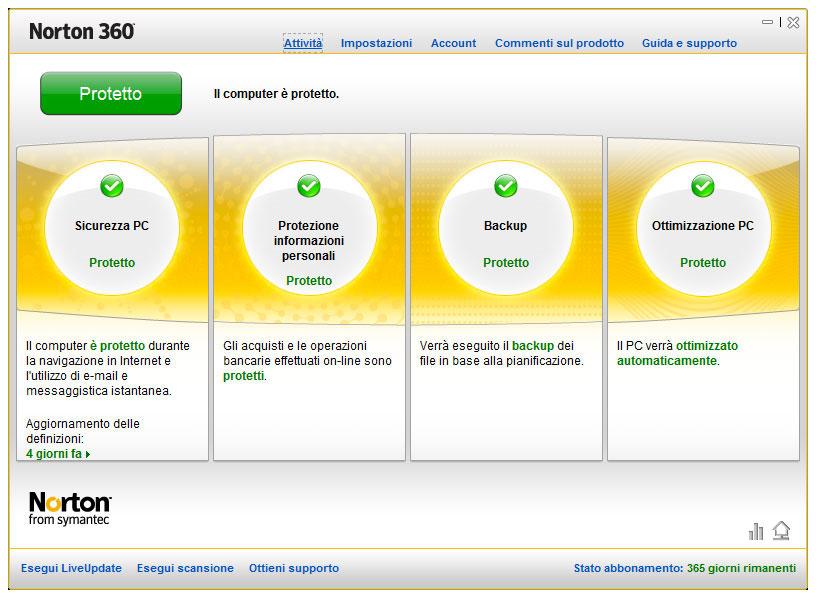 Figura 1: una delle più complete suite di sicurezza è Norton 360 di Symantec