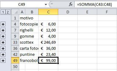 Figura 3: i dati sono stati consolidati