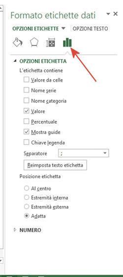 Figura 14: la finestra Formato etichette dati
