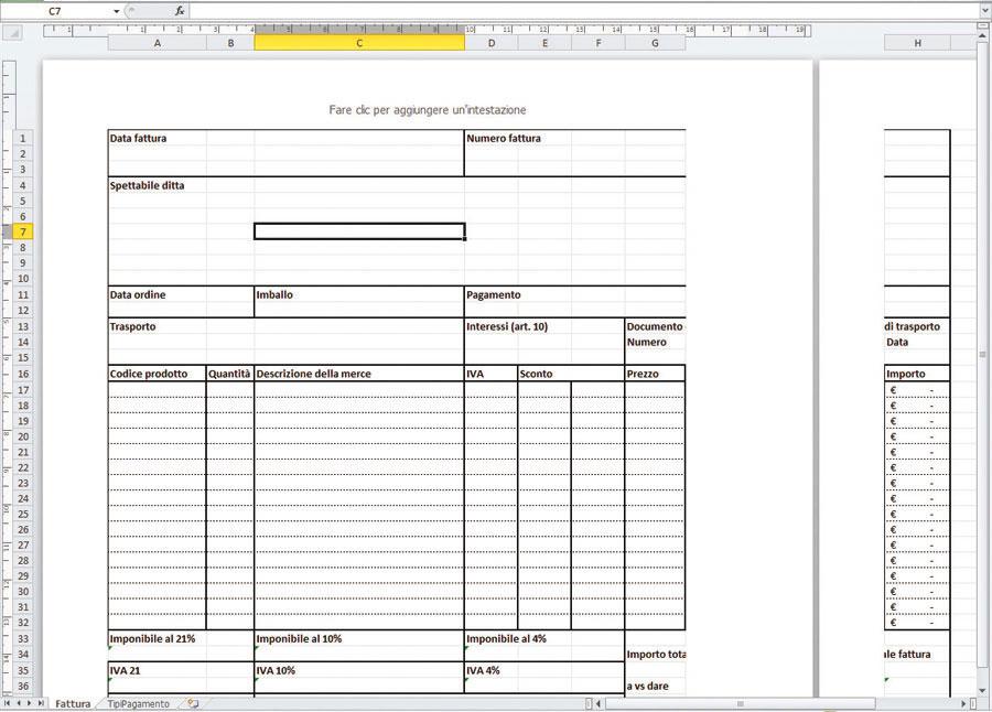 Figura 3: la visualizzazione Layout di pagina