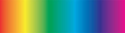 """Figura 1: la figura rappresenta lo spettro cromatico della luce bianca e tutti i colori che lo compongono. In funzione della quantità d'acqua attraversata dalla luce alcuni colori sono """"assorbiti"""""""