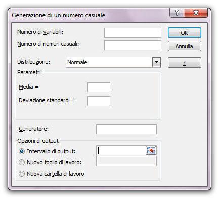 Figura 1: la finestra Generatore di un numero casuale