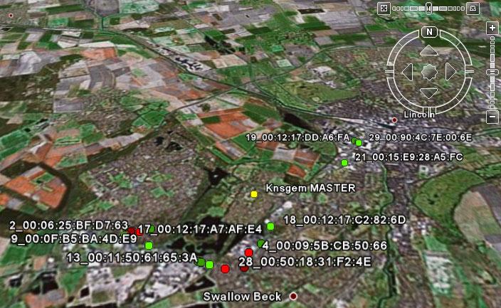 Figura 2: mappatura delle reti in Google Earth
