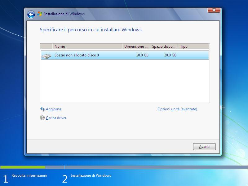 Figura 5: tutti i file presenti nella partizione selezionata saranno cancellati dall'installazione