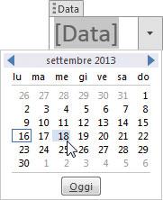 Figura 4: inserire una data