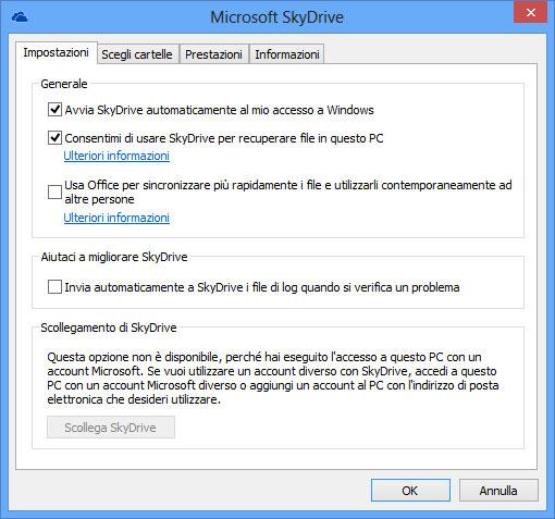 Figura 3: impedire a Office di caricare i file su SkyDrive per evitare conflitti con la app SkyDrive