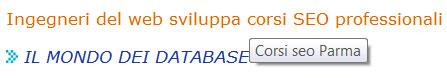 Figura 1: esempio di visualizzazione nel browser dell'attributo title interno a un collegamento ipertestuale