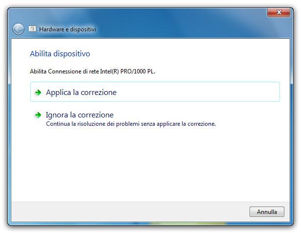 Figura 2: le soluzioni proposte possono essere applicate o ignorate in base alle indicazioni fornite da Windows