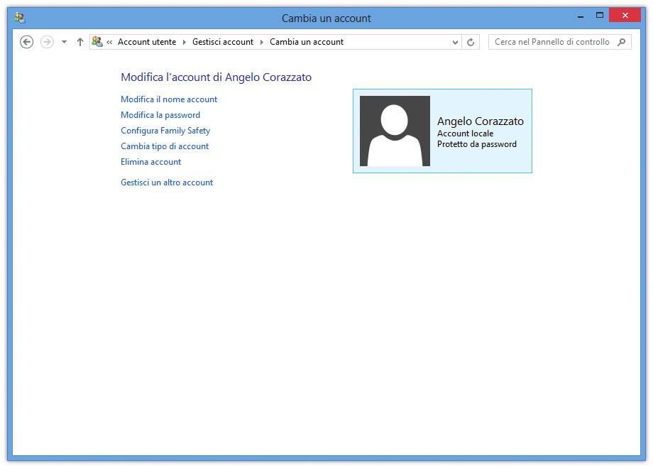 Figura 8: modifica delle impostazioni di un utente