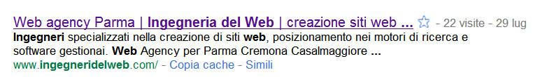 Figura 2: come appare il tag <title> in una ricerca effettuata in Google
